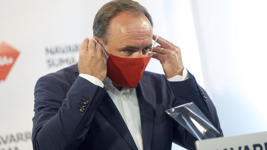 El presidente de UPN, Javier Esparza, anuncia que es positivo en coronavirus