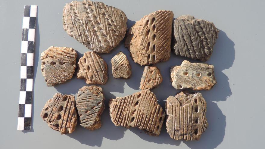 Los fragmentos proceden de Tenagua.