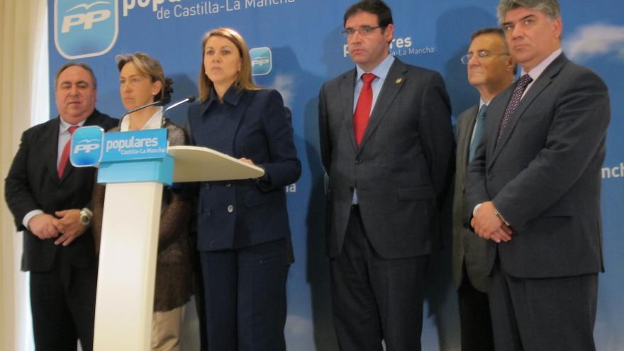 """Cospedal está """"convencida"""" de que la legislatura terminará en Castilla-La Mancha """"creando empleo y creciendo"""""""