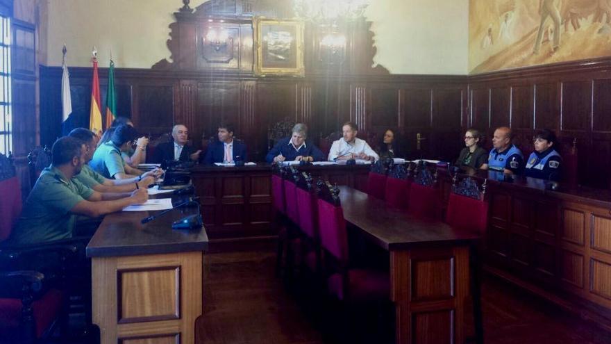 Reunión de la Junta Local de Seguridad de Los Llanos de Aridane.