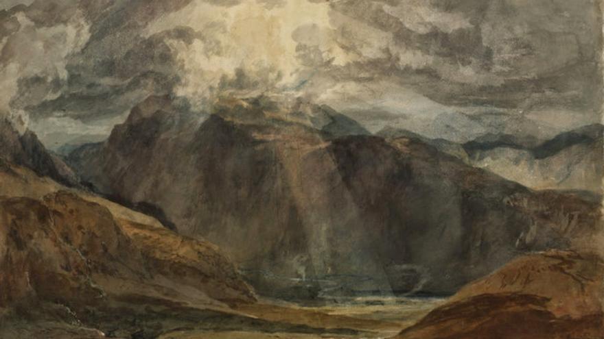 William Turner. 'Nant Peris-Snowdon', (Gales), 1799.