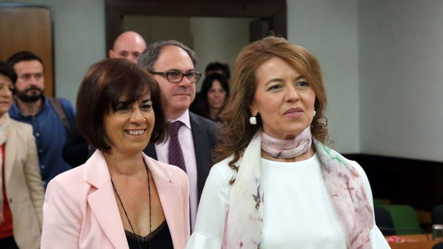 La consejera de Bienestar Social, Aurelia Sánchez, en la Comisión de Presupuestos
