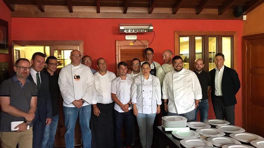 Miembros de la Asociación Gastronómica Palmera (AGAP)