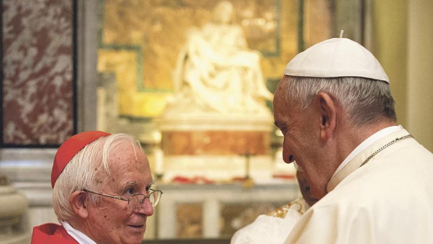 Francisco, con el cardenal Cañizares