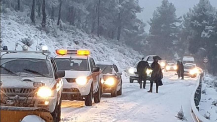 Albacete, la provincia más afectada por la borrasca 'Gloria' con 1.700 kilómetros cortados por nieve