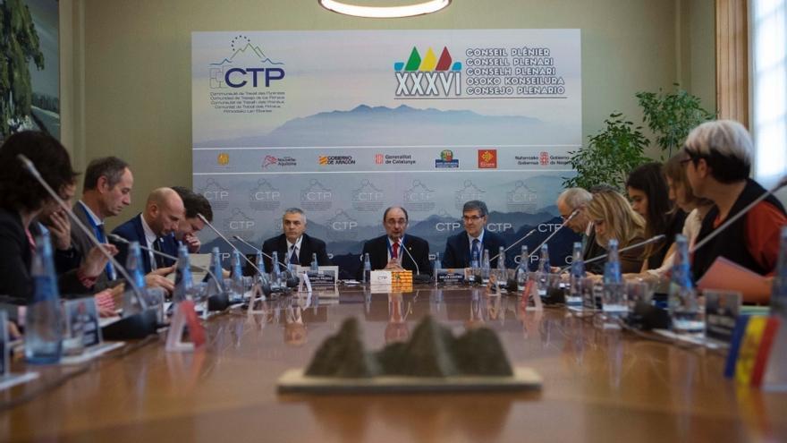 Plenario de la Comunidad de Trabajo de los Pirineos, con la Presidencia de Javier Lambán