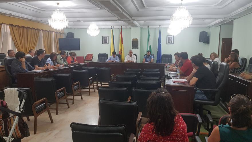 Archivo - Pleno del Ayuntamiento de San Juan de Aznalfarache (Sevilla)