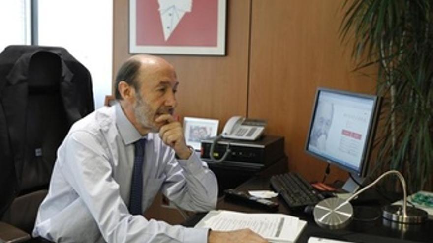 Rubalcaba En Su Nuevo Despacho