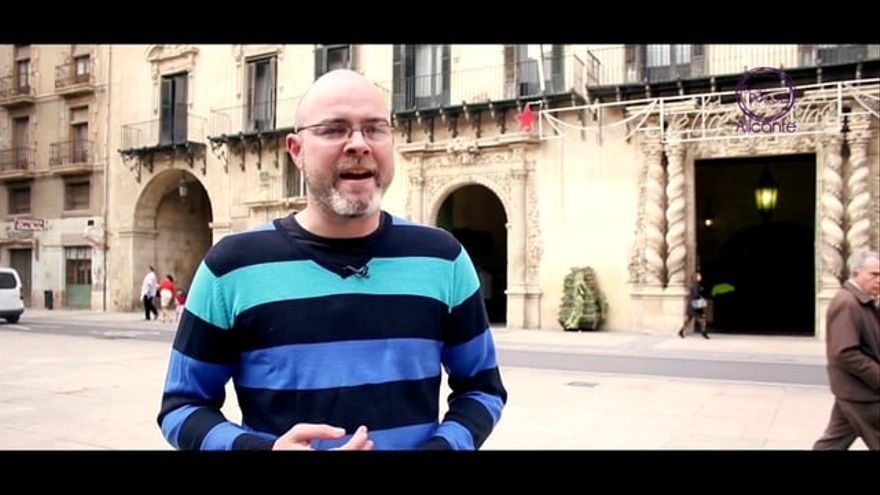 Jesús Bustos, secretario general de Podemos en Alicante.