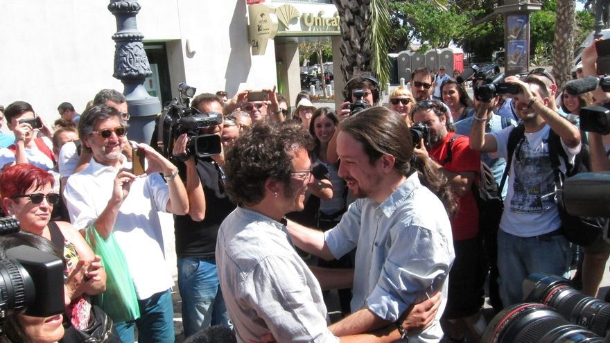 Pablo Iglesias y José María González, 'Kichi', en una imagen de archivo.