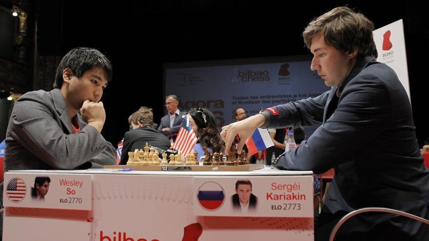 Hikaru Nakamura arranca tablas a Magnus Carlsen y mantiene viva la Final de Maestros de Bilbao