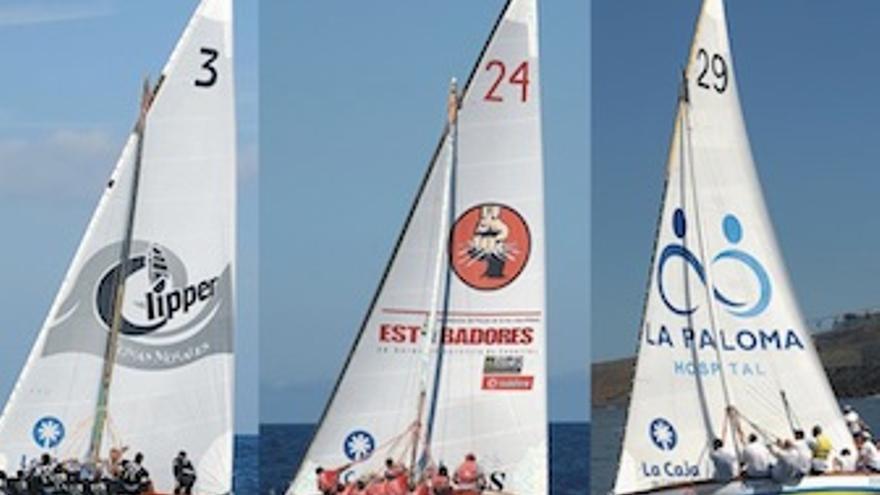 Imagen de las tres embarcaciones que se disputan el titulo. (federacionvelalatinadebotes.org)