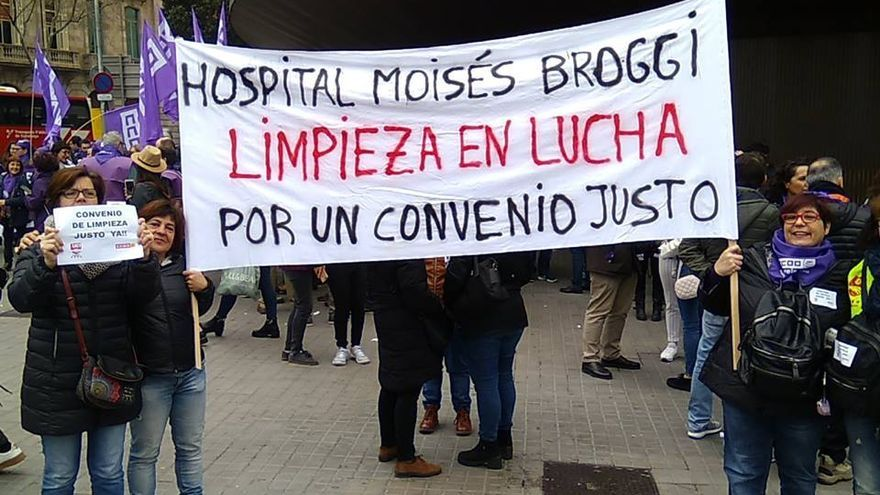 Huelga de trabajadoras de la limpieza en Catalunya