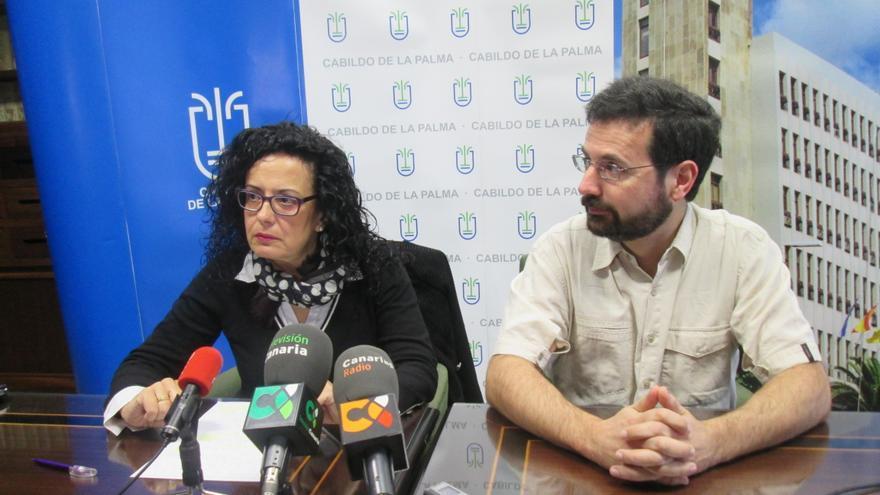Nieves Rosa Arroyo y Ramón Plana, este miércoles. Foto: LUZ RODRÍGUEZ.