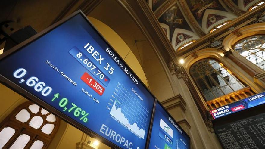 La Bolsa española baja el 0,66 % tras la apertura, hasta los 8.642 puntos