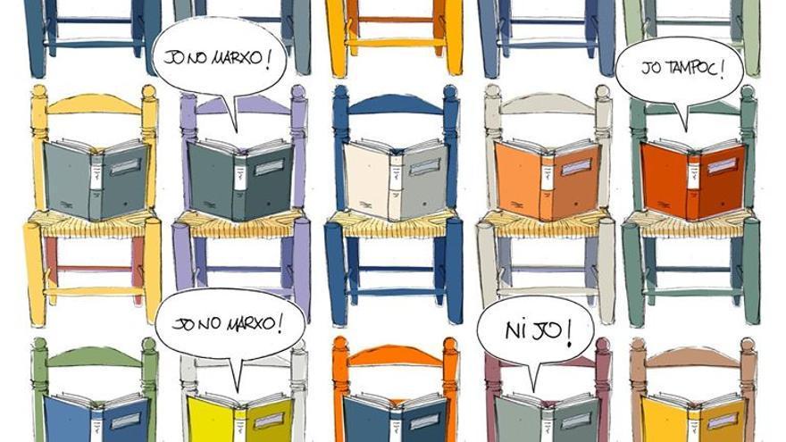 Uno de los carteles de apoyo a la librería, realizado por el ilustrador Jordi Vila. / Casa Anita