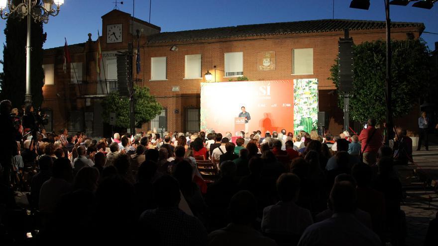 Mitin de García-Page en Yuncos (Toledo)