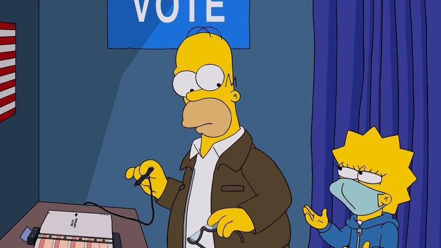 Escena del capítulo de Halloween dedicado a las elecciones