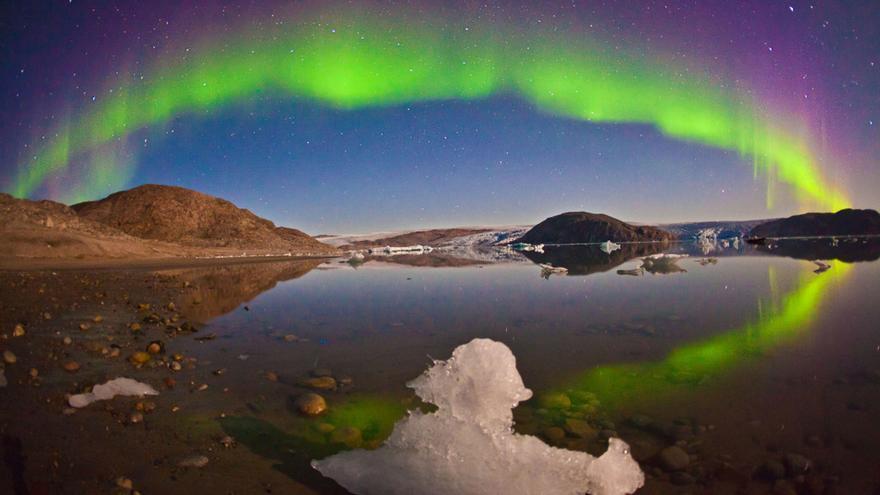 Aurora boreal captada en el Ártico / Juan Carlos Casado, IAC