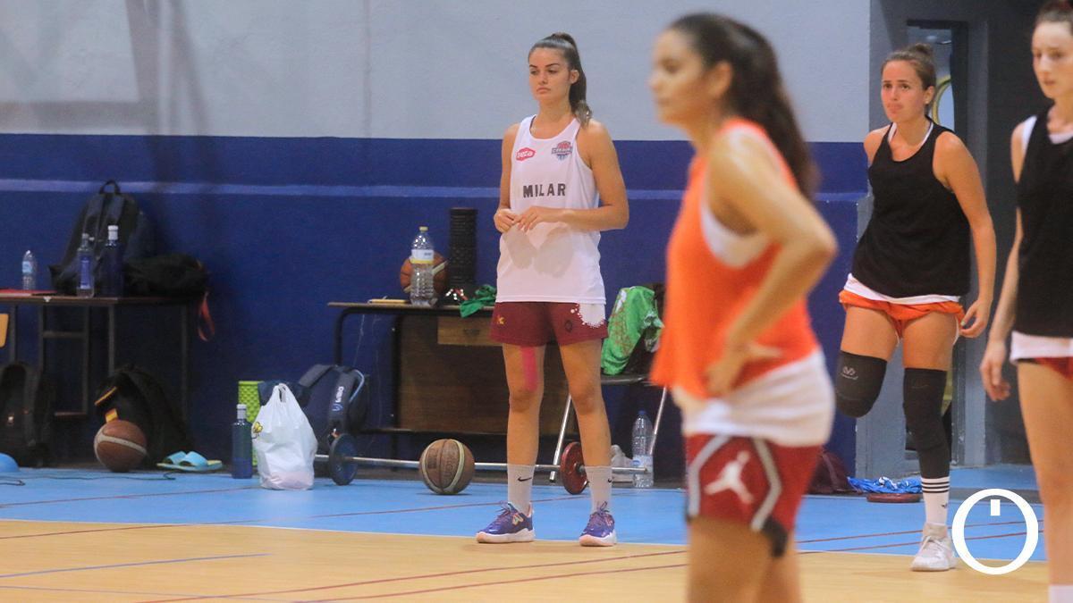 Beatriz Bustos, en un entrenamiento del Milar Córdoba