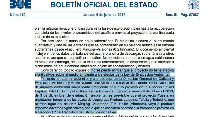 Regantes de Albacete interponen una denuncia penal por el bombeo de agua a Murcia