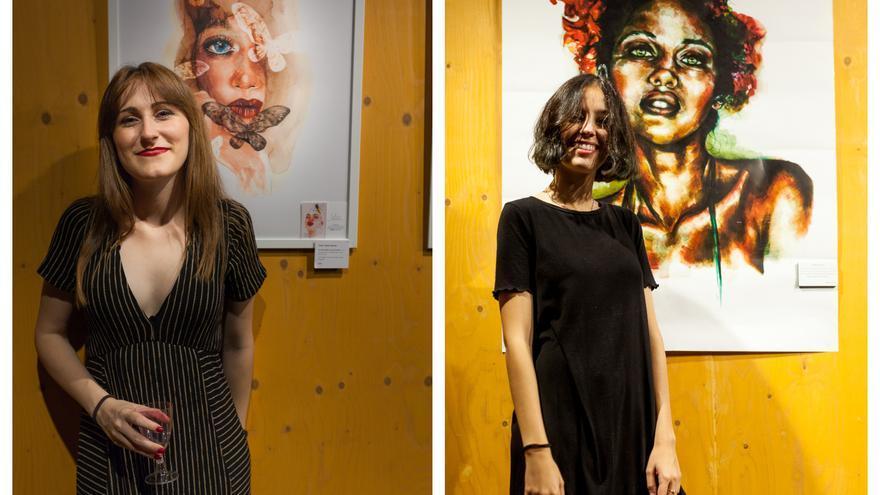 Celia López a la izquierda y María Carrasco a la derecha / Fotografía: @tania.ni