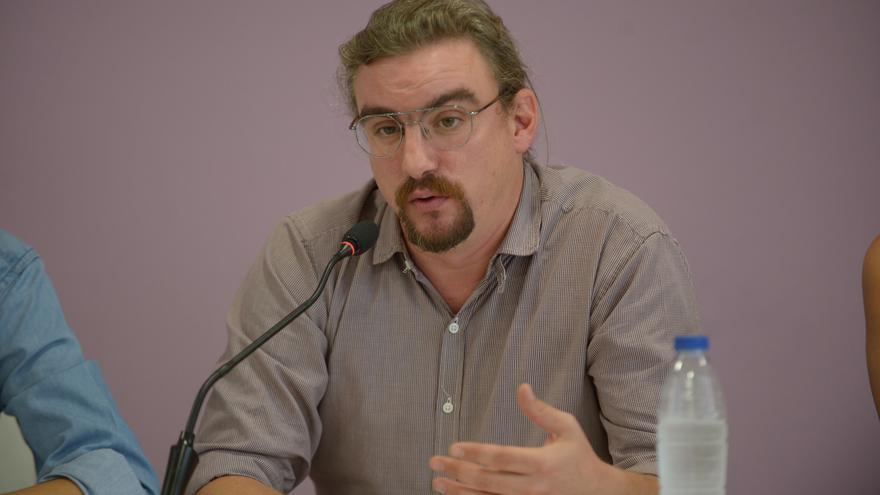 Jorge Lago, durante la presentación de la Universidad de Podemos