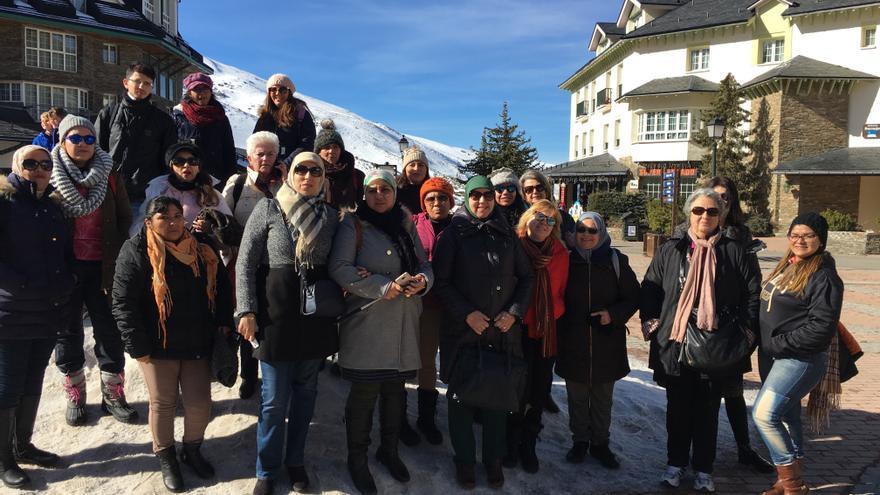 Excursión a Sierra Nevada entre miembros de la asociación y voluntarios