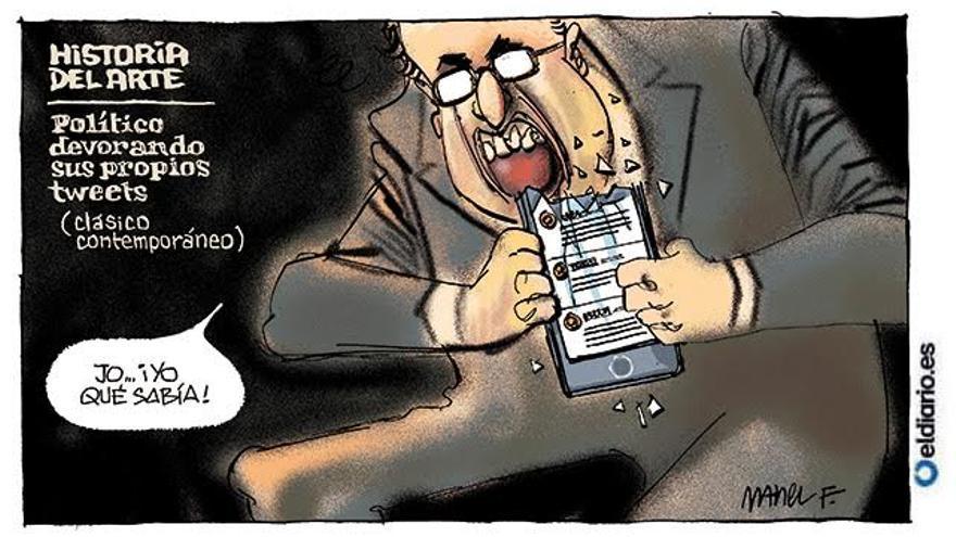 Político devorando