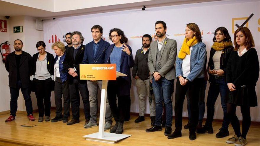 "Rovira (ERC) afirma que Junqueras está en prisión porque ""le tienen miedo"""