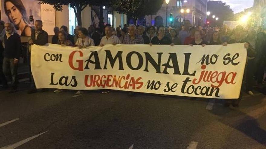 Manifestación ayer en el barrio de Gamonal.