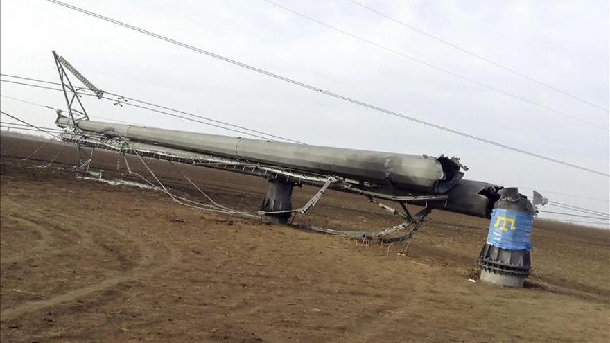 Crimea se queda sin luz tras un sabotaje en las torres de alta tensión en Ucrania
