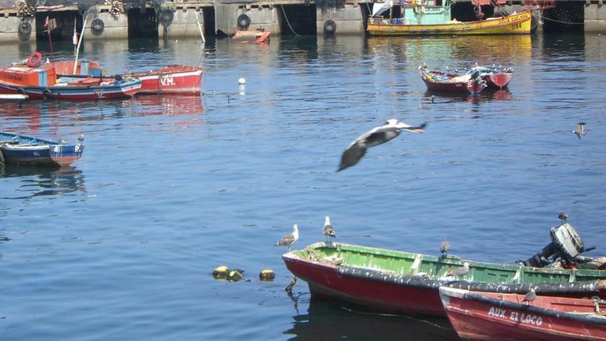 Imagen del puerto de Antofagasta, Chile