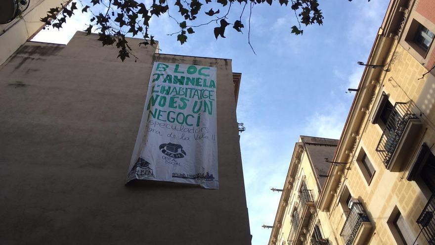 Vivienda ocupada en el barrio de Gràcia de Barcelona