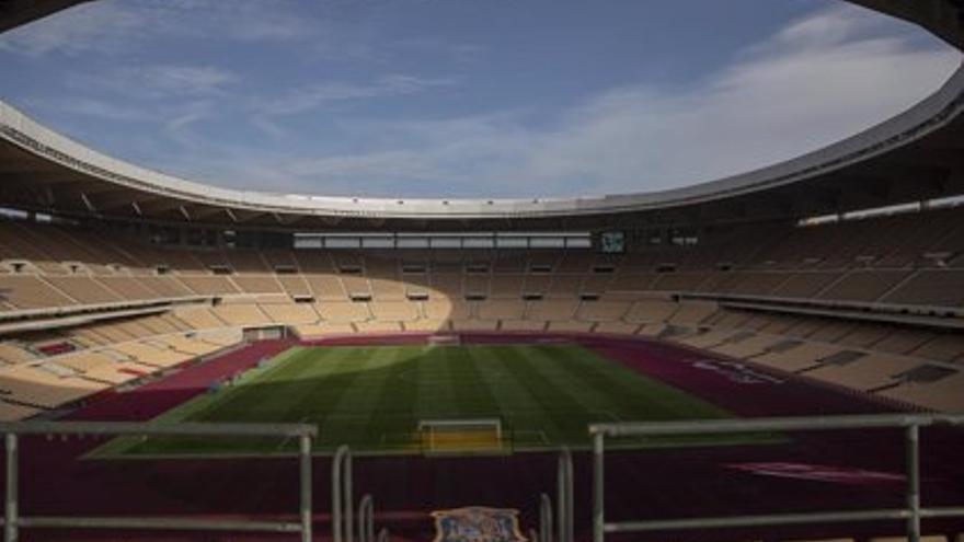 Estadio de La Cartuja en Sevilla, vacío