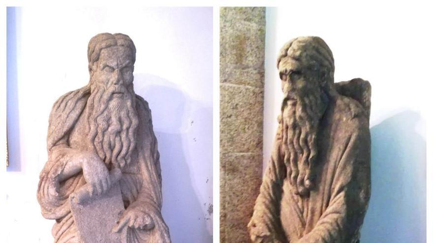 Las estatuas de Abraham e Isaac, este mes de septiembre en el Pazo de Meirás