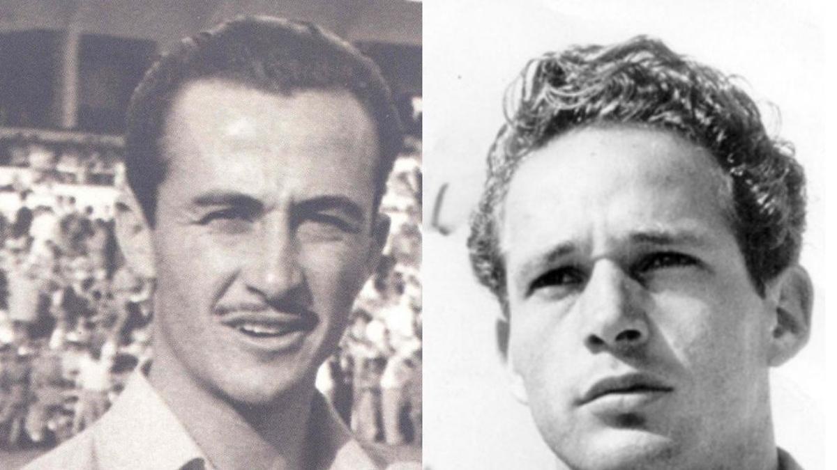Los jugadores Lorencito y Villar.