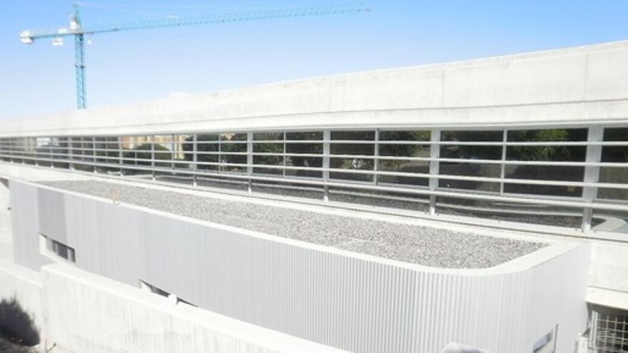 Las obras del nuevo centro en Siete Palmas continúan paralizadas.
