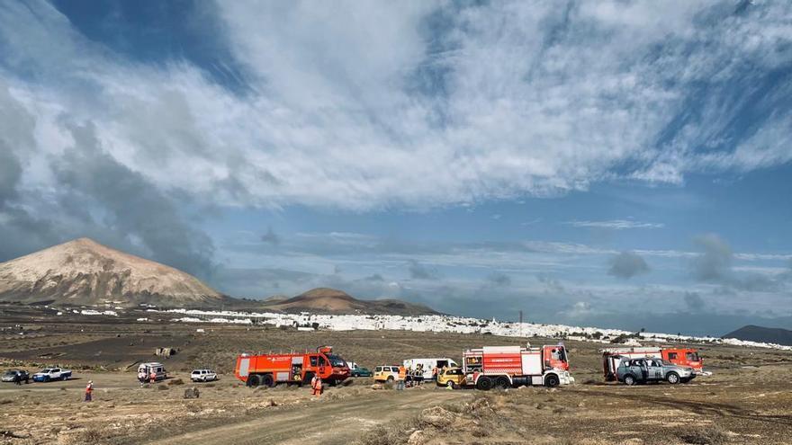 Accidente aéreo con 11 muertos por la pérdida de potencia en los motores, el simulacro que ha puesto en jaque al aeropuerto de Lanzarote