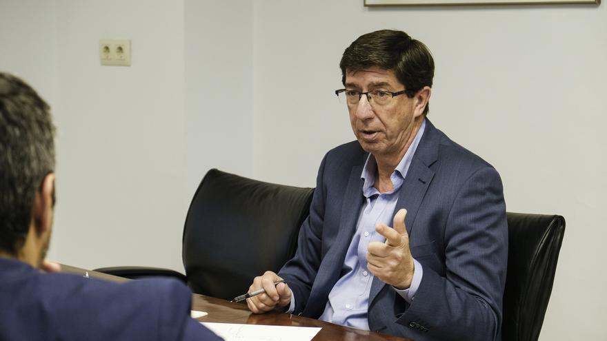 Juan Marín, vicepresidente de la Junta de Andalucía, durante un momento de la entrevista.