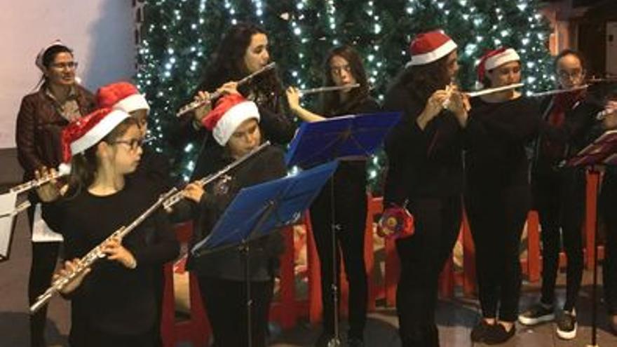 Imagen de archivo de un concierto navideño de la Escuela Insular de Música.