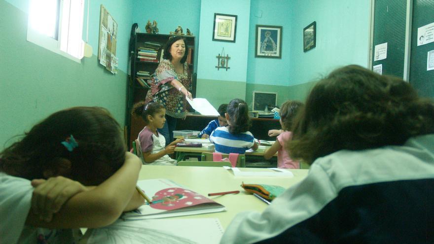 Una de las aulas de la ONG Digmun durante una de sus clases/ Fotografía: Gonzalo Testa