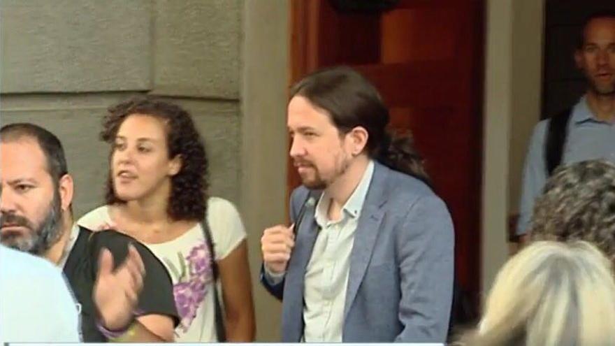 Pablo Iglesias y Nagua Alba, este miércoles en el Congreso