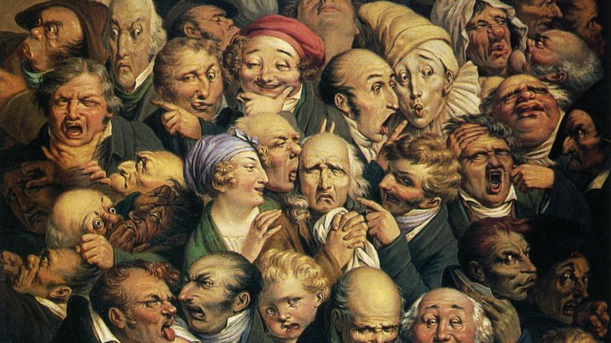 Treinta y cinco expresiones.   Honoré Daumier