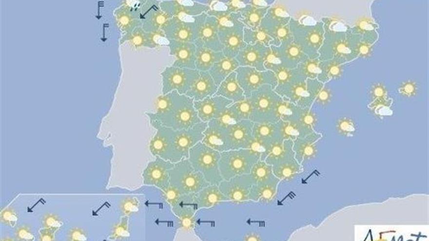 Aprieta el calor en los valles del centro y Miño, sur peninsular y Canarias