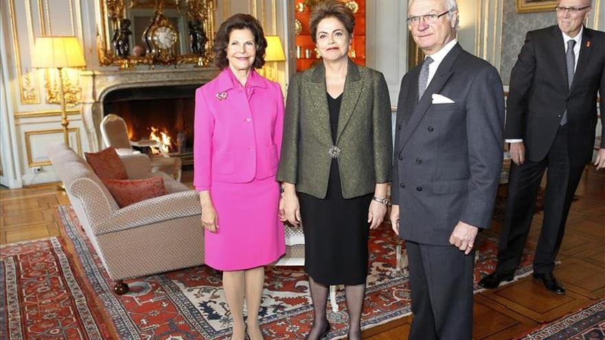 Rousseff inicia su gira escandinava con una recepción con el rey Gustavo XVI