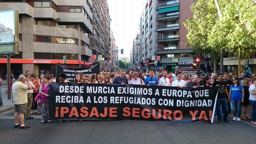 Más de mil personas se concentraron en la Plaza Circular a favor de los derechos de los refugiados