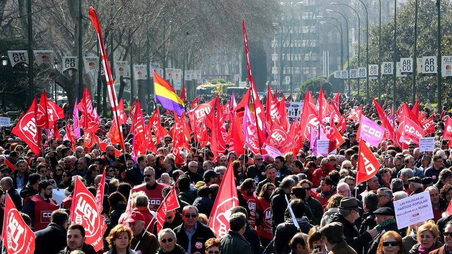 Plano general de la manifestación, celebrada este domingo en Madrid