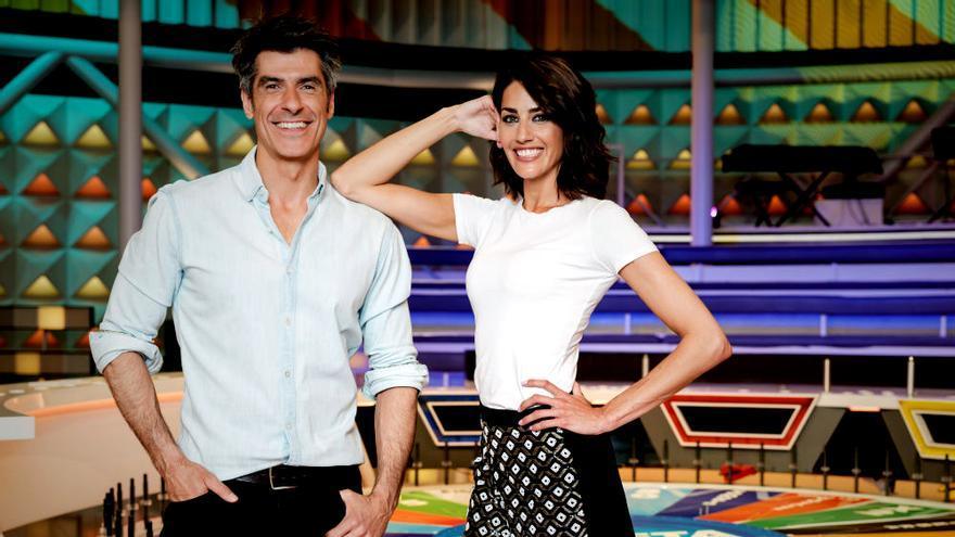 Jorge Fernández y Laura Moure en 'La Ruleta de la Suerte'