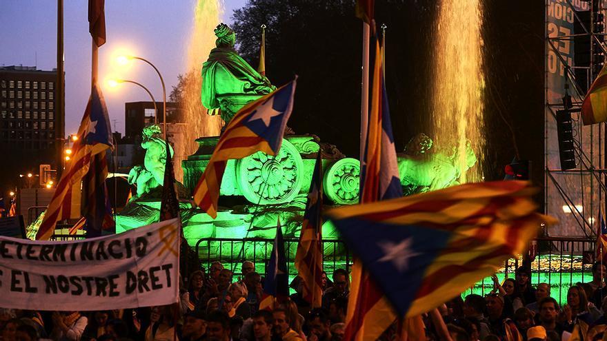 Imagen de la manifestación soberanista de Madrid